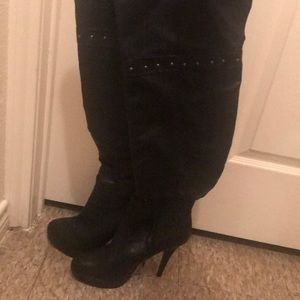 Knee high leather boots!!! Only worn twice!!